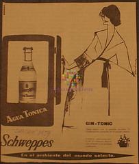 "Schweppes. ""Agua tónica"". 1959"