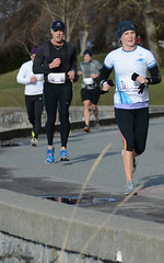 First Half Feb 16 2014 095658 (gherringer) Tags: canada vancouver race outdoors athletics downtown bc exercise britishcolumbia competition running seawall runners englishbay stanleypark colourful westend fit active bibs 211km 131mi vanfirsthalf