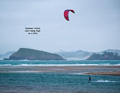 Summer Storm (Wanda Amos@Old Bar) Tags: haiku kitesurfing poetryandpicturesinternational wandaamos