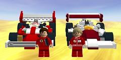 Niki Lauda and James Hunt (Eleven-Thirty-Eight) Tags: car digital race racecar james 1 lego designer howard f1 racing ron rush formula niki hunt racer nürburgring lauda ldd