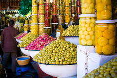 Olives (Cathy G) Tags: africa food holiday canon northafrica morocco olives marrakech souk canon28135mm canon40d