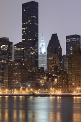 03-08-14 Manhattan from Roosevelt Island 2 (ThinkDima) Tags: city nyc newyorkcity longexposure newyork skyline night reflections nikon cityscape manhattan 85mm nightshots chryslerbuilding rooseveltisland newyorkatnight nikkor85mm afsnikkor85mmf14g d800e nikond800e