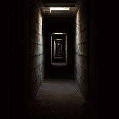 The Tunnel (Wakky Photography) Tags: light black dark nikon shine tunnel creapy d90 55200vr