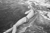 half submerged man in the sea (gorbot.) Tags: sea summer blackandwhite beach me sicily finale m43 pollina takenbyroberta silverefex micro43 microfourthirds panasoniclumixgf1 20mmlumixf17