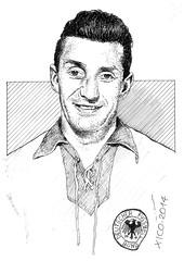 Fritz Walker Jogador alemão 1954