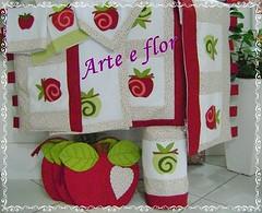 (arteeflor77) Tags: capa patchwork guardanapos jogodecozinha jogoamericano maas band