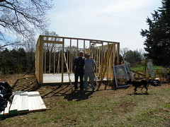 The first 4 walls (leespicedragon) Tags: construction handcrafted framing 2014 shopart marvinleebillings