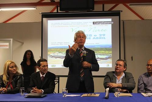 Palestra durante à I Conferência Municipal de Turismo do Vetor Norte