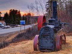 Train Along the Way (MSVG) Tags: sunset lake ontario canada train motel steam kingfisher timberland kaministiquia