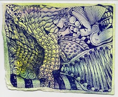 watercolor fountainpen khadi jherbin zentangle zendoodle