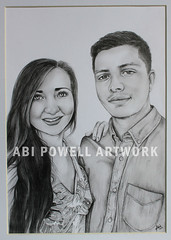 Pencil Drawing, self portrait A4 (AbiiMedia) Tags: art pencil sketch drawing fineart abi reallife realism pencildrawing abii abiimedia abipowell abipowellart abiipow