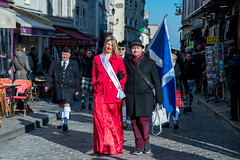 Scotland In Montmartre (dprezat) Tags: paris montmartre 2015 rpubliquedemontmartre commune ecosse scotland highlander kilt cornemuse bigpipes clan rugby tournoidesvinations xv france street people portrait nikond800 nikon d800