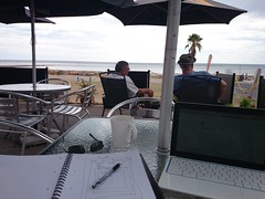 creative office (leogaggl) Tags: beach computer creativity freedom cafe laptop headspace digitalnomad networkednomads
