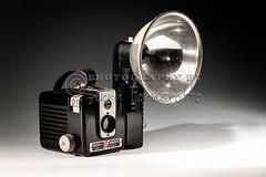 Brownie Hawkeye (Jerry Fornarotto) Tags: camera old stilllife film bulb analog vintage photography technology kodak antique flash brownie setup hawkeye obsolete kodakhawkeyebrownie canon1dmarkiv jerryfornarotto