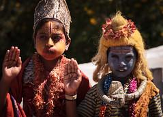 KeralaMysore_2011-1793 (chantalreed) Tags: india costume kerala karnataka mysore ind younggirls paintedfaces gettyimagessubmission editorialonly