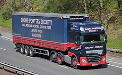 DAF XF Euro 6 - SHORE PORTERS' SOCIETY Aberdeen (scotrailm 63A) Tags: trucks removals lorries