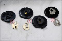 Rollei 35 Film Speed Cam Disk Variations (01) (Hans Kerensky) Tags: rollei speed parts cam spare 35 variations followup excenter 19400110 19434000 19530100