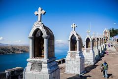 (ElasVF) Tags: sky lake verde titicaca beautiful temple outdoor blu bolivia arquitecture