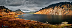Winter Sun on Wast Water (Dave Massey Photography) Tags: sunlight lake mountains dusk lakedistrict cumbria fells wastwater screes yewbarrow