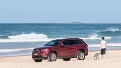 Jeep on beach.jpg (tomorrowdog) Tags: ocean sea beach seaside waves jeep offroad 4x4 grand shore elements cherokee coffs coffsharbour boambee