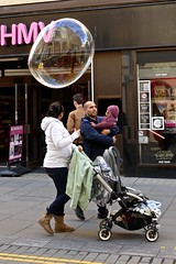 Thought bubble (Englepip) Tags: street uk family people shopping bath thinking bubble