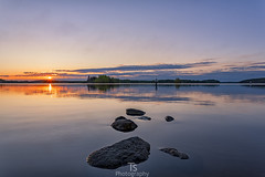 Seaway (Taavi Salakka) Tags: sunset lake water clouds canon finland landscape landscapes stones 5d canon5d 1740mm lappeenranta waterscape saimaa