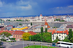 Budapest scene as seen from Fisherman's Bastion (misi212) Tags: fisherman budapest scene bastion