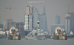 HMS Kent (1) @ Woolwich Reach 16-05-16 (AJBC_1) Tags: uk england london buildings boat ship unitedkingdom military navy vessel frigate canarywharf riverthames warship cityskyline eastlondon rn thamesbarrier gallionsreach royalnavy londonskyline nikond3200 northwoolwich newham britisharmedforces citybuilding militaryvessel navalvessel hmskent type23frigate woolwichreach londonboroughofnewham f78 ukmilitary dlrblog ajc
