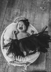 newborn (brouckske) Tags: baby blackwhite crying newborn props