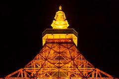 Tokyo Tower (Jos Miguel Serna) Tags: city trip travel sky tower primavera japan night spring twilight lowlight cityscape tokyotower japn 2016 shibakoen  rgraffiks josemiguelserna