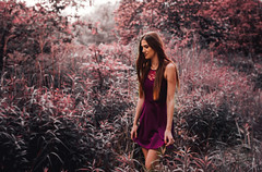 Dream planet (viteo) Tags: red portrait people color nature girl beautiful photomanipulation dress creative attractive