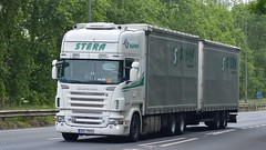 3E8 7005 (panmanstan) Tags: truck wagon yorkshire transport international lorry commercial vehicle freight scania haulage r500 a63 drawbar everthorpe