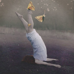 in the beginning. (1/365) (Stellie Chavez) Tags: portrait yellow fineart butterflies surreal conceptual fineartphotography surrealphotography conceptualphotography conceptphotography yellowbutterflies elliechavezphotography elliechavez