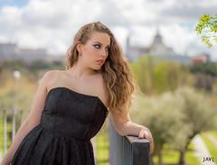 Raquel (JaviJ.com) Tags: madrid portrait espaa black beauty fashion spain model europa europe retrato negro moda makeup modelo rubia maquillaje pathmakeup