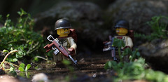 Stick in the Mud (Kyle Hardisty) Tags: world california lighting 2 two macro brick field grass animal rock canon kyle photography war rocks arms lego fig outdoor wwii lakes mini dirt ii mammoth custom twigs depth minifigure 2016 brickarms hardisty