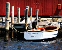 Necessity (blamstur) Tags: red water boat words connecticut letters nautical mystic mysticseaport necessity 51916rob