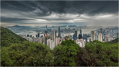 Hong Kong view (Chas56) Tags: city skyline clouds canon buildings hongkong cityscape view harbour peak vista thepeak kowloon height hongkongharbour hongkongpeak canon5dmkiii