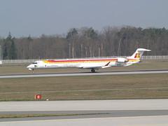 IBERIA regional (uwe_gompf_66) Tags: iberia bombardier cl900 ecldx flughafen frankfurtmain fraport 25r
