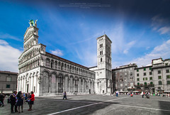 San Michele in Foro (Luis Sousa Lobo) Tags: city urban italy canon san cityscape cathedral catedral lucca tuscany michele piazza toscana 1018 itlia 70d