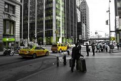 New York, jaune, 4 (Patrick.Raymond (2M views)) Tags: usa nyc new yprk manhattan jaune taxi nikon samyang nikonflickraward expressyourself