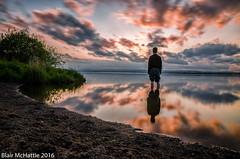 selfie at the loch (blairmchattiephotography) Tags: sunset sea sky cloud mountain water field reflections river landscape scotland nikon long exposure fife outdoor dusk hill serene depth leven selfie d7000