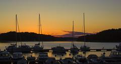 Summer night & archipelago (Joni Mansikka) Tags: sea summer night suomi finland landscape boats outdoor dusk balticsea masts archipelago naantali