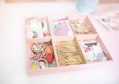 On My Desk (Marie's Shots) Tags: desktop pink studio desk tray organize