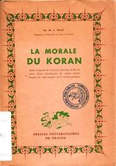 Dal fondo Mario Dal Pra: A. Draz, La morale du Koran (bibliofilosofiamilano) Tags: corale etica copertina