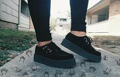Instagram: Hirodrewsykes (HiroDrewSykes) Tags: black shoes grunge overlay creeper tuk alternative skinnyjeans tukshoes hirodrewsykes