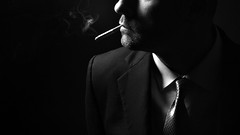 (Donald Palansky Photography) Tags: sony alpha portrait strobist strobe smoking cigarette alienbees suitandtie fashion offcameraflash