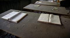 57. Pripyat School - Class ([ Jaso ]) Tags: school abandoned nikon classroom pages empty nuclear books eerie ukraine disaster d750 educational hollow desks chernobyl pripyat
