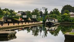 Waiting for the next job (chaotic river) Tags: trip england marina boat canal unitedkingdom wide beam kingfisher gb lancaster barton barge grange claughtononbrock