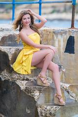 Jully Photoshoot (Justin Ciappara - www.jciappara.com) Tags: model girl beauty blonde fashion sexy photo photoshoot photography jciappara posing dress yellow red white valletta malta nikon nikonphotography jciapparaphotography winter summer vintage heels bookeh