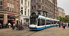 Op de koffie komen (Peter ( phonepics only) Eijkman) Tags: city holland netherlands amsterdam transport nederland tram rail rails trams strassenbahn noordholland gvb streetcars combino nederlandse